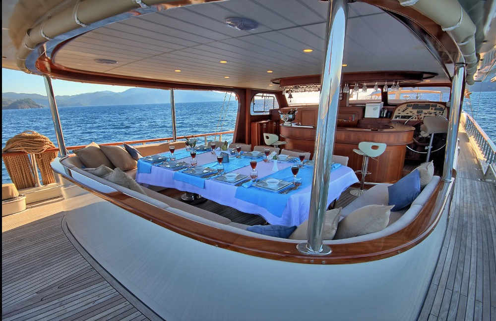 Deluxe Gulet-Dining Table aft deck.jpg