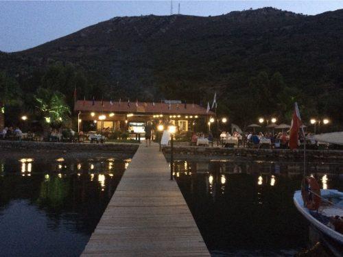 Paradise bay at night.